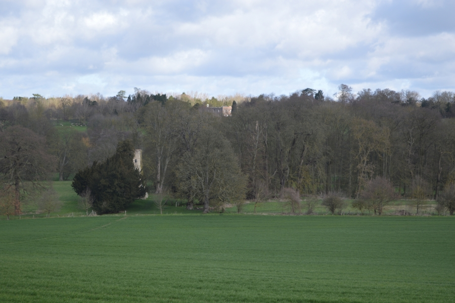 Church and Youngsbury from Thundridge Hill